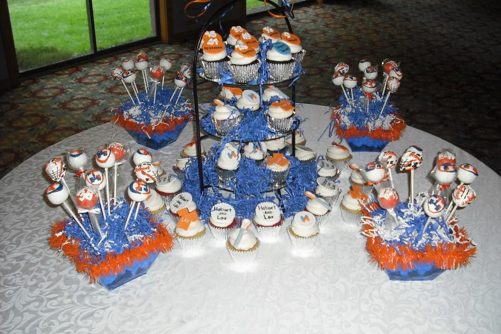 Hobart College Lacrosse Banquet Cake Pops